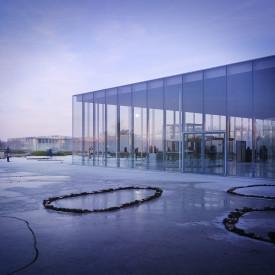 Construction du musée du Louvre à Lens