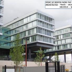 Construction du siège de Région Nord Pas de Calais à Lille
